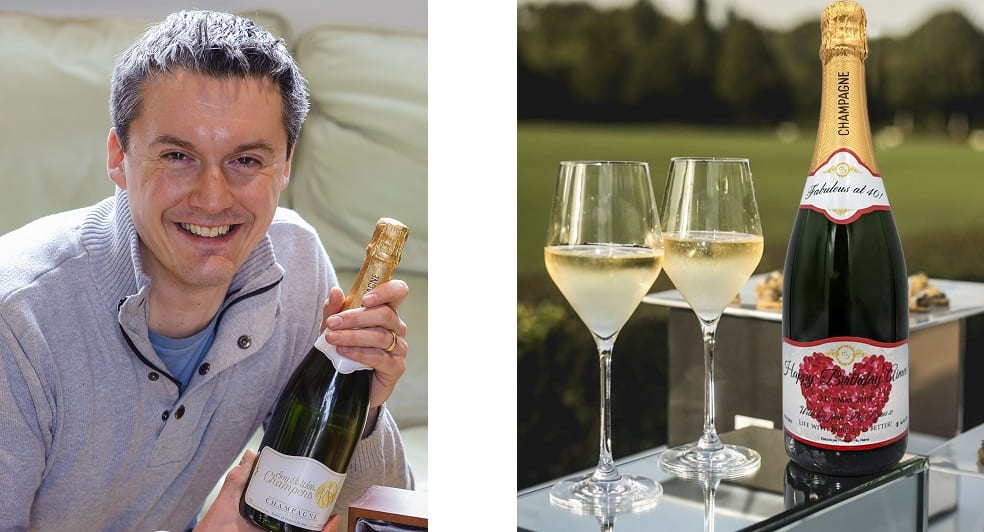 Didier Penine from Cockfield who has launched Say It With Champers which is a gift site where you can personalise your champagne gift.  Picture: Mark Bullimore Photography