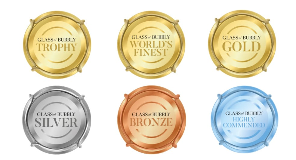Glass of Bubbly Badges 2020