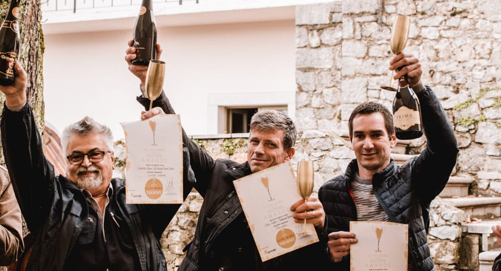 Glass of Bubbly Trophy Winners Slovenia