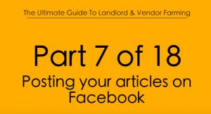 Pt.7 Posting your Articles on Facebook