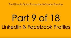 Pt.9 LinkedIn and Facebook Profiles