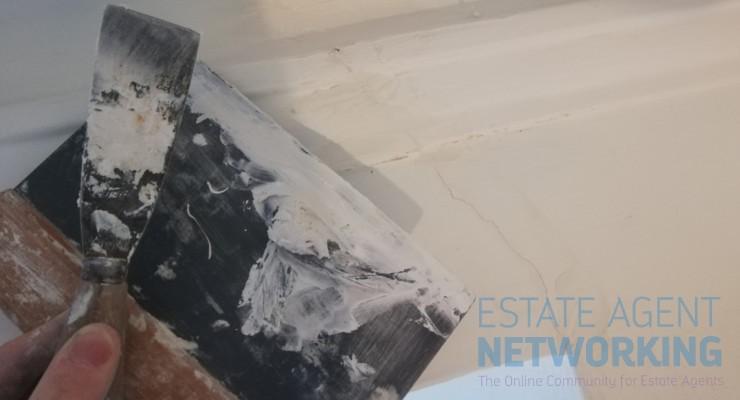 Plastering cracks on ceiling