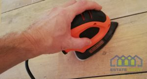 Mouse sander floor boards