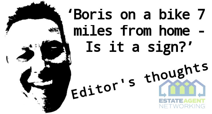 Boris on a bike 7 miles from home - Is it a sign