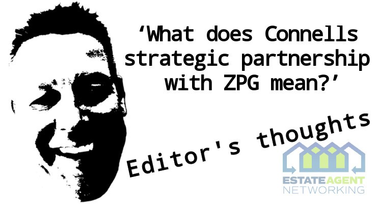 What does Connells strategic partnership with ZPG mean