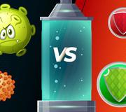 Juego de la batalla contra el coronavirus