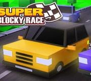 Super carrera de coches bloque
