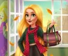 Tendencias de otoño de princesa rubia