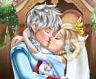 Beso de boda de la reina de hielo