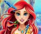 Corte de pelo real de princesa sirena