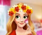 Corona de flores princesa