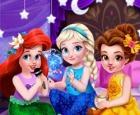 Fiesta de pijamas de princesas para niños pequeños