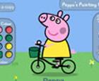 Pintar y Colorear a Peppa y George Pig