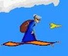 La abuela voladora cazando canarios
