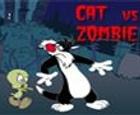 Gatos contra zombies. ¡Me parecio ver a un lindo gatito!