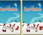 Encuentra las diferencias, postales navideñas.