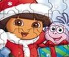 Puzzle de Dora y Botas en Navidad