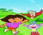 Puzzle de Dora junto con Botas y el Mapa
