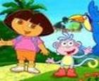El mundo mágico de Dora la Exploradora.