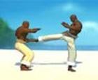 Capoeira fighters I. Lucha de capoeira.