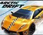 Carrera de coches en el ártico