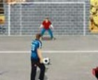 Penaltis en el barrio. Against the wall kick off.
