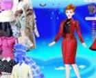 Viste a Barbie con sus joyitas y sus vestiditos.