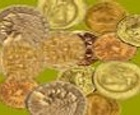 Busca las monedas antiguas.