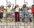 Puzzle del reparto de actores de la serie Hannah Montana