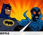 Batman y escarabajo Azul