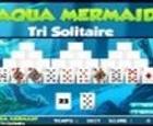 Aqua Mermaid Tri Solitaire