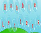 Letras de burbuja