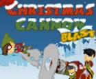 Explosión de cañon de navidad