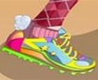 Viste mis zapatos para correr
