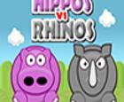Hipopótamos contra rinocerontes