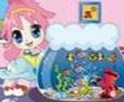 Pequeña cutie y su pescado