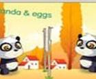 Panda y huevos