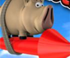 Cerdo en el cohete