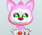 Gatito rosa vestir