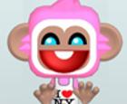 Pink Monkey Dress Up