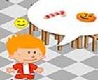 Servir galletas a los niños