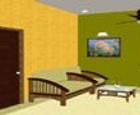 Estudio pequeño apartamento de escape