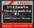 Ultimate Unscramble # 1: HTML Code Code Words