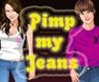 Pantalones de moda con Miley y Justin.