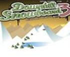 Snowboard en la montaña nevada