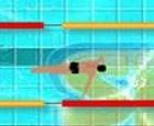 Carrera en la piscina