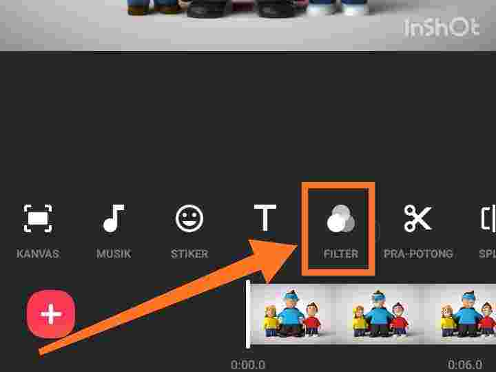 Cara mengubah suara video menjadi chipmunk di inshot