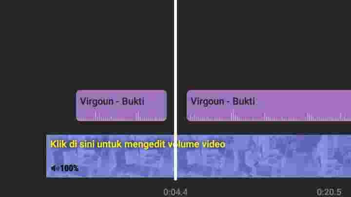 Cara memotong lagu di video