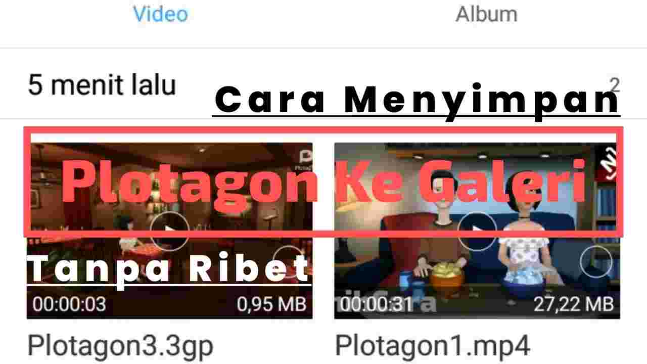 Save video plotagon ke galeri