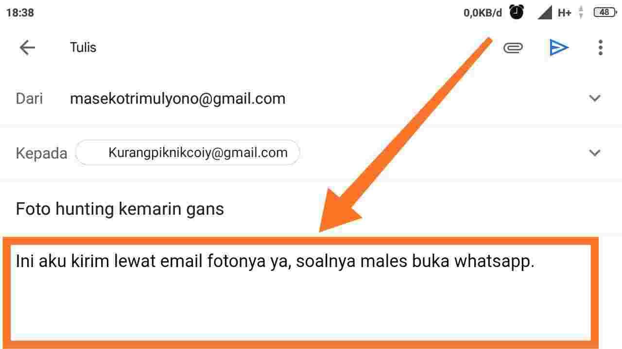Cara mengirim video lewat email di laptop